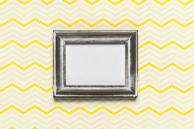 Elegant retro frame with pattern background