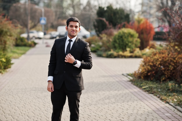 Elegant south asian business man in suit.