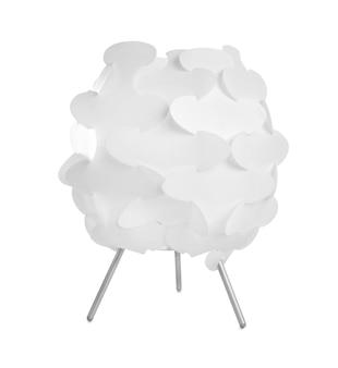 흰색 바탕에 우아한 테이블 램프