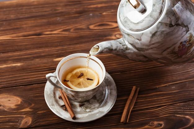 Elegant tea cup