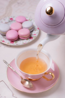 Elegante arrangiamento per il tè