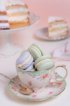 Elegante assortimento di tea party