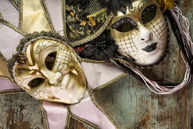 Elegant venetian carnival composition