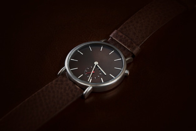 Elegant watch closeup
