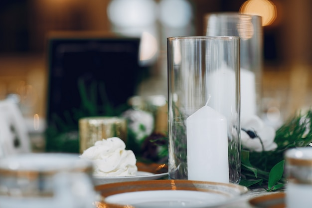 Elegant wedding candles