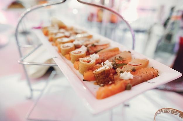 Elegant wedding dishes