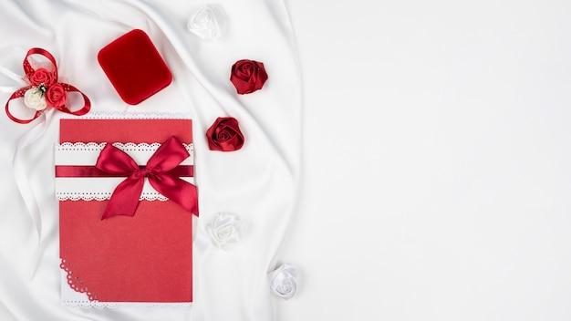 Elegant wedding invitation with copy space