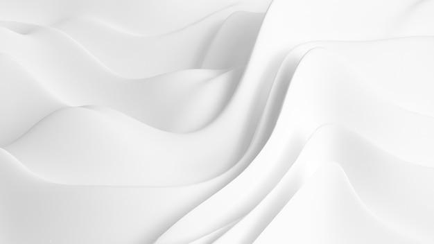 Элегантный белый фон с драпированной тканью. 3d иллюстрации, 3d рендеринг.