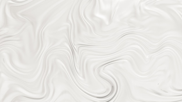 Элегантный белый фон с развевающимися тканевыми волнами. 3d иллюстрация