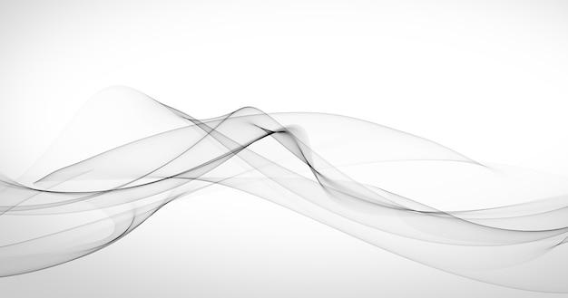 灰色の抽象的な形とエレガントな白い背景