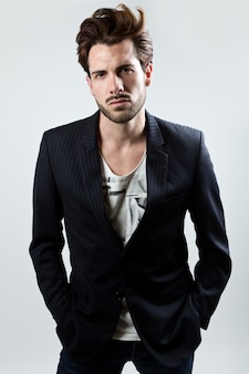Elegant young handsome man.