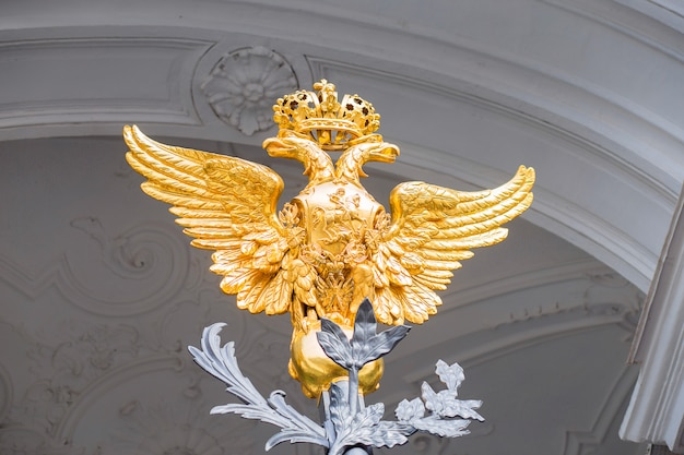 Element of a decor of the main gate of an entrance to the hermitage in st. petersburg.