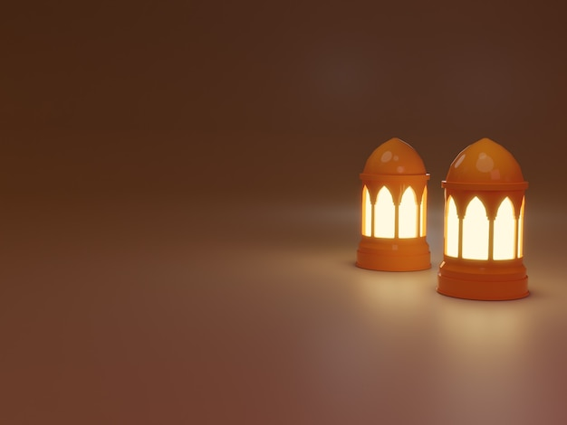 Элемент рамадан карим фон с фонарями