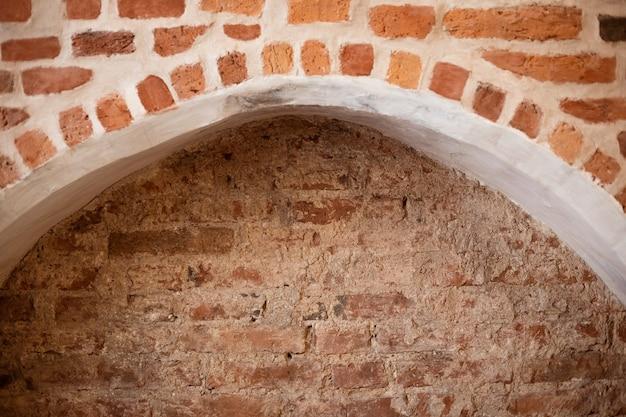 Elements of ancient brickwork taken in closeup