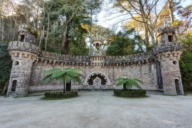 Elements of architectural structures in quinta regaleira. sintra portugal.
