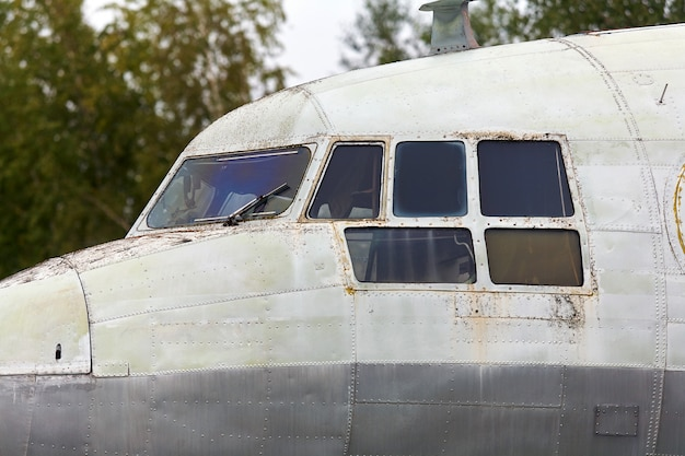 Elements of an old soviet military aircraft