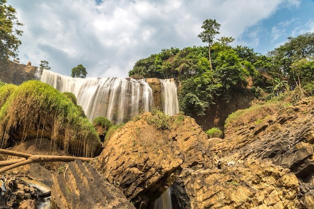 Elephant waterfall in dalat, vietnam in a summer day