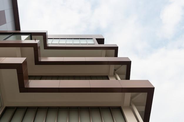 Elevated corner of modern building