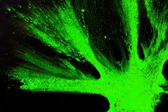 黒い表面に明るい緑のホーリー色の立面図