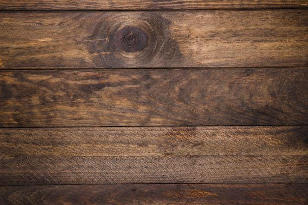 Elevated view of old wooden desk