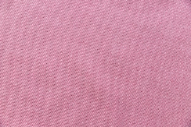Elevated view of pink textile background