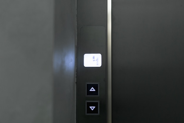 Elevator buttons panel close up