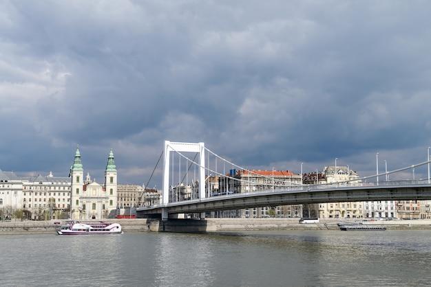 Elisabeth bridge in budapest, hungary