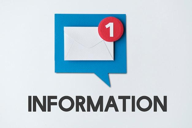 Концепция напоминания о всплывающем уведомлении по электронной почте