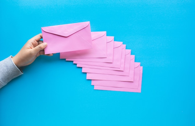 Email marketing concepts with colorful envelope