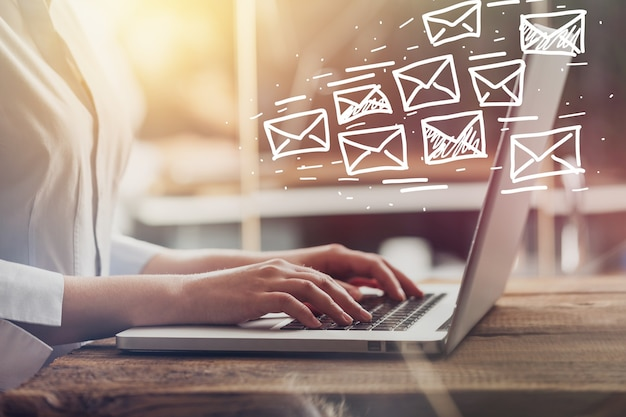 Email marketing and newsletter concept