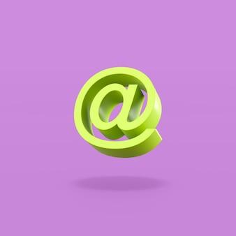 Email symbol shape on purple background