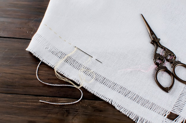 Embroidery. sewing accessories