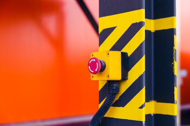 Emergency button on the conveyor