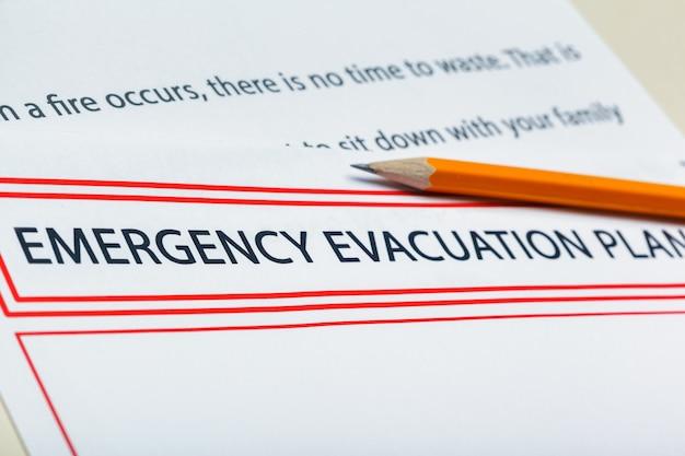 План экстренной эвакуации