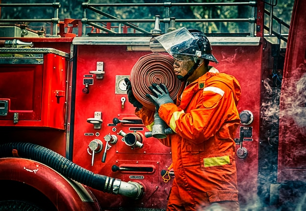 Emergency fire rescue training