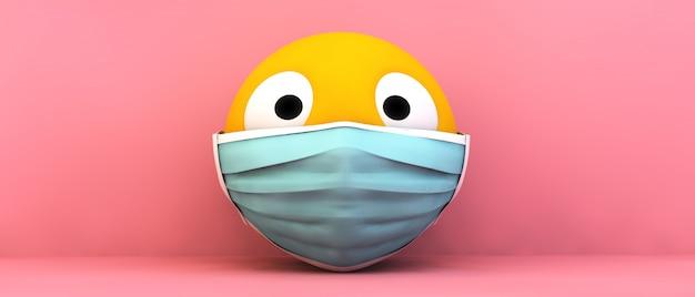 Эмодзи медицинская маска