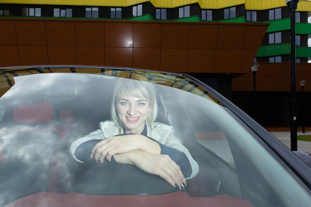 The emotional blonde behind the wheel,
