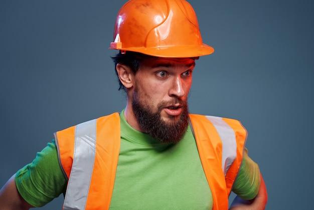 Emotional builders orange hard hat safety work fatigue