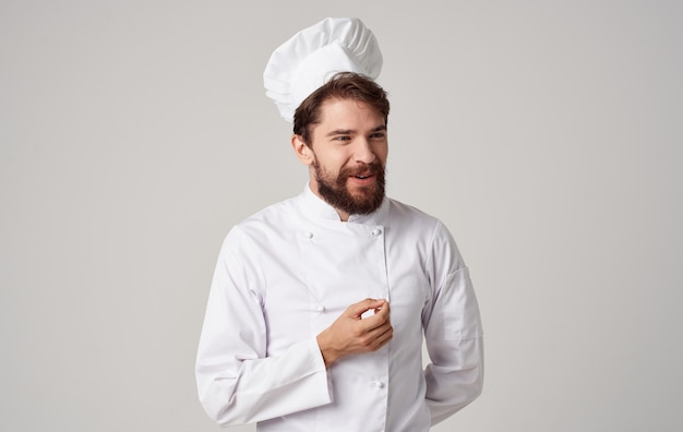 Эмоциональный шеф повар одежда шеф-повара работа на кухне профессионал