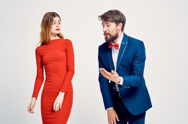 Emotional man and woman communication close relationship