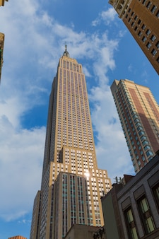 Empire state building in manhattan new york city