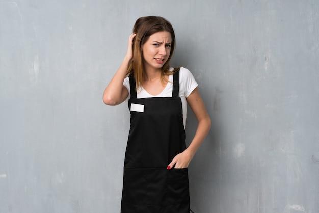 Employee woman having doubts