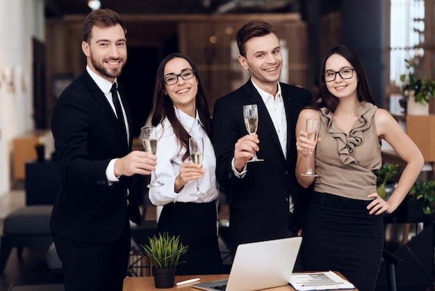 Employees of the company drink alcoholic beverages