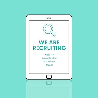Occupazione carriera assunzione recruiting conept