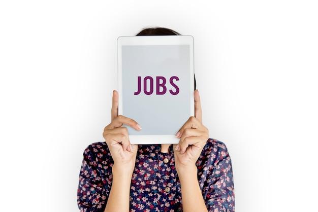 고용 기회 고용 작업 아이콘