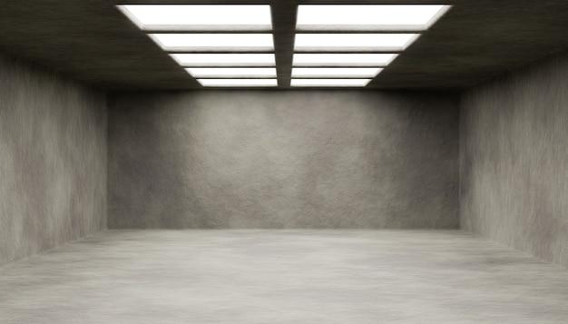 明るいルーフウィンドウのある空の抽象的な部屋