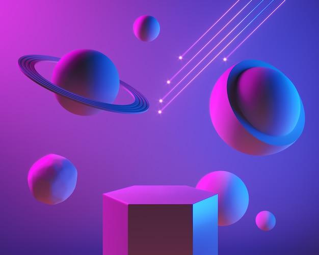 Опорожните абстрактные этап или подиум сцены для предпосылки дисплея продукта, 3d представьте.
