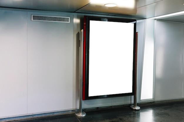 Empty advertising panel