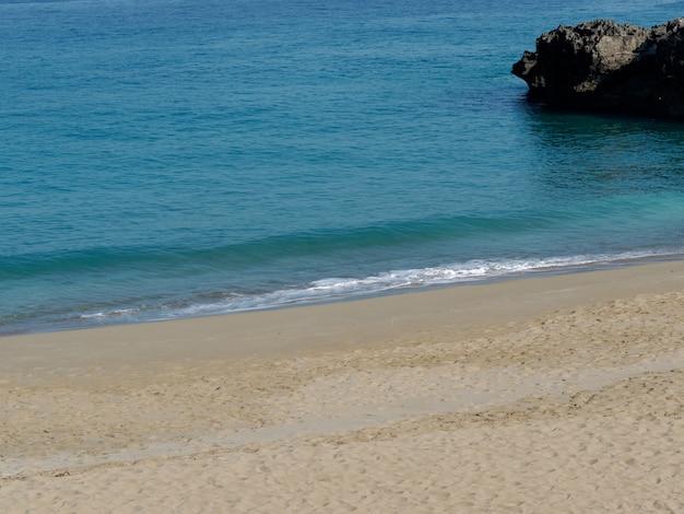 Empty alisia beach during covid-19 pandemic. dominican republic.