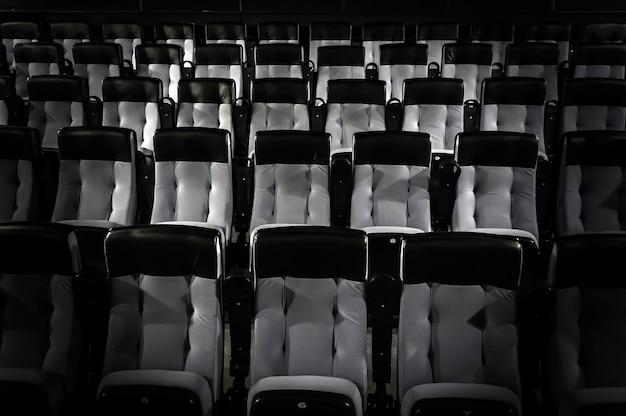 편안한 좌석이 있는 영화관의 빈 강당